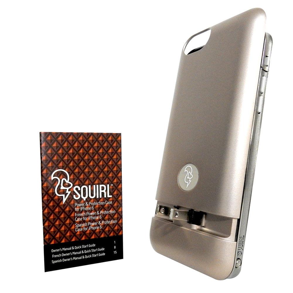 106bc133fcc Funda con bateria SQUIRL Iphone 6/6s bateria 2300mAh carga sin cables- GOLD