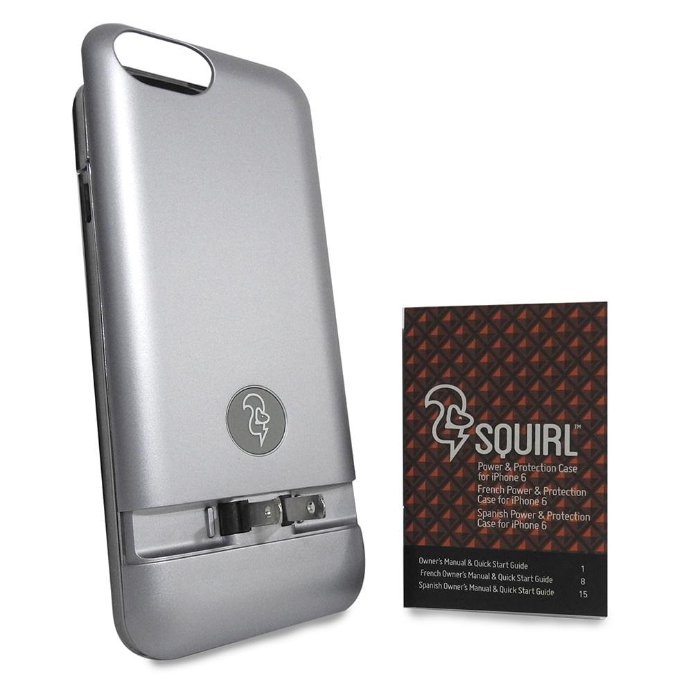 1caa3da6274 Funda con bateria SQUIRL Iphone 6/6s bateria 2300mAh carga sin cables- GRAY