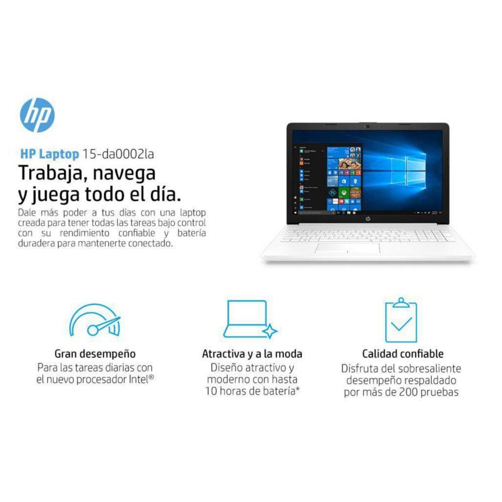 Laptop HP 15-da0002la Intel Celeron RAM 4GB DD 500GB W10H 15 6