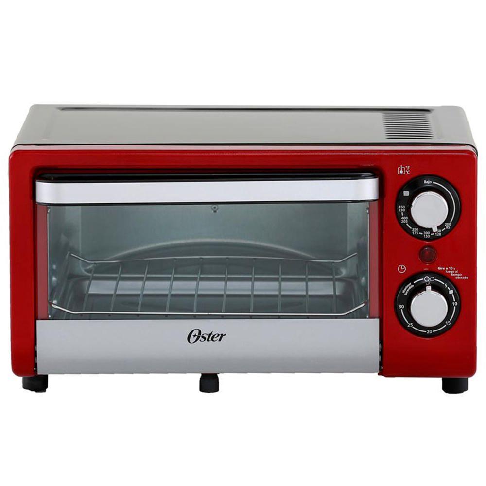 Oster horno tostador tssttv10l rojo elektra for Ofertas de hornos electricos