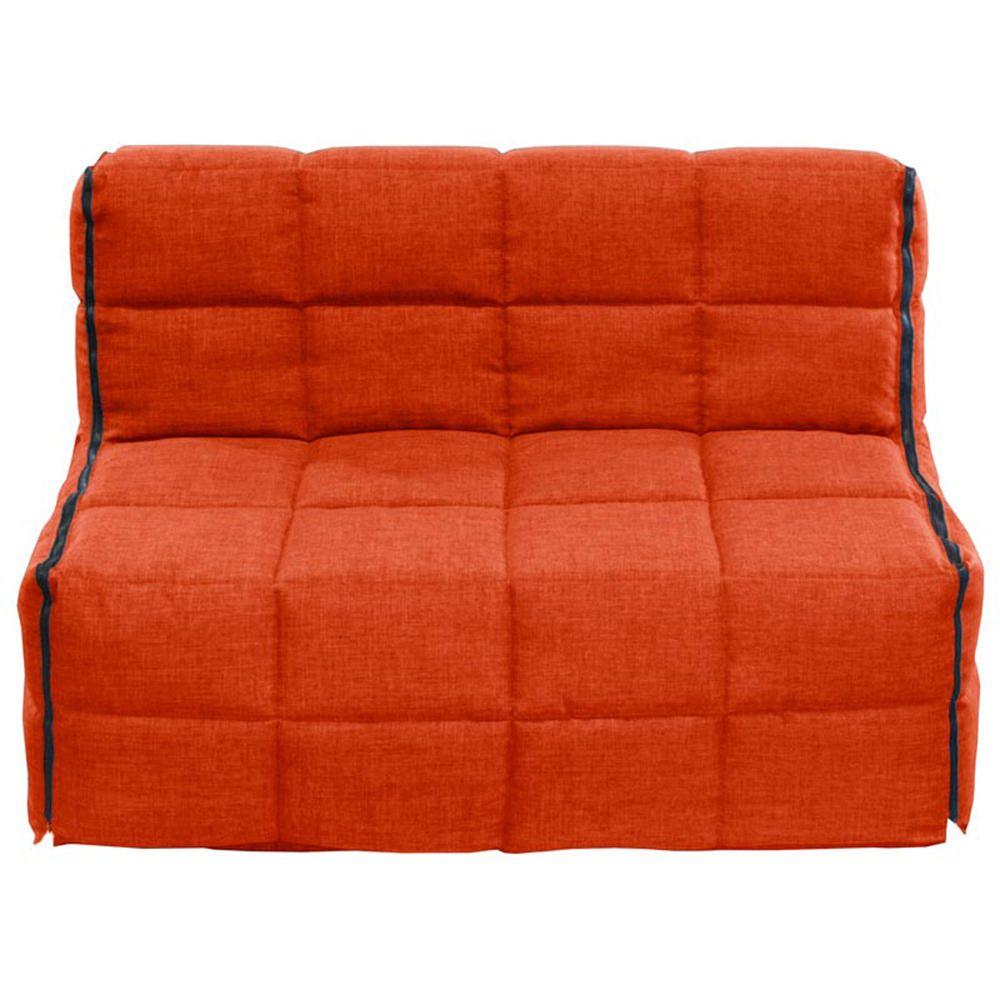 Sof cama matrimonial boreal anaranjado for Precio sofa cama matrimonial