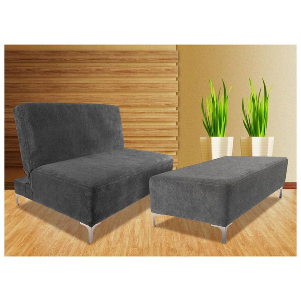 Sof cama individual odessa gris elektra for Sofa cama individual plegable mexico