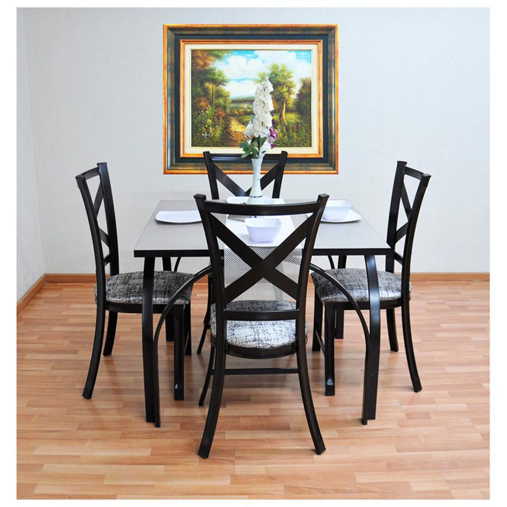 Antecomedor dubai 4 sillas caf elektra online elektra for Comedores 6 sillas elektra