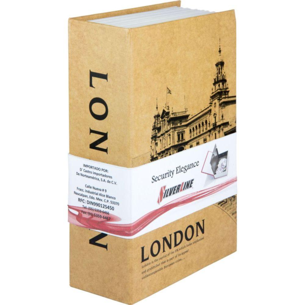"Caja de Seguridad Tipo Libro London 9"" Elektra.com.mx - elektra"