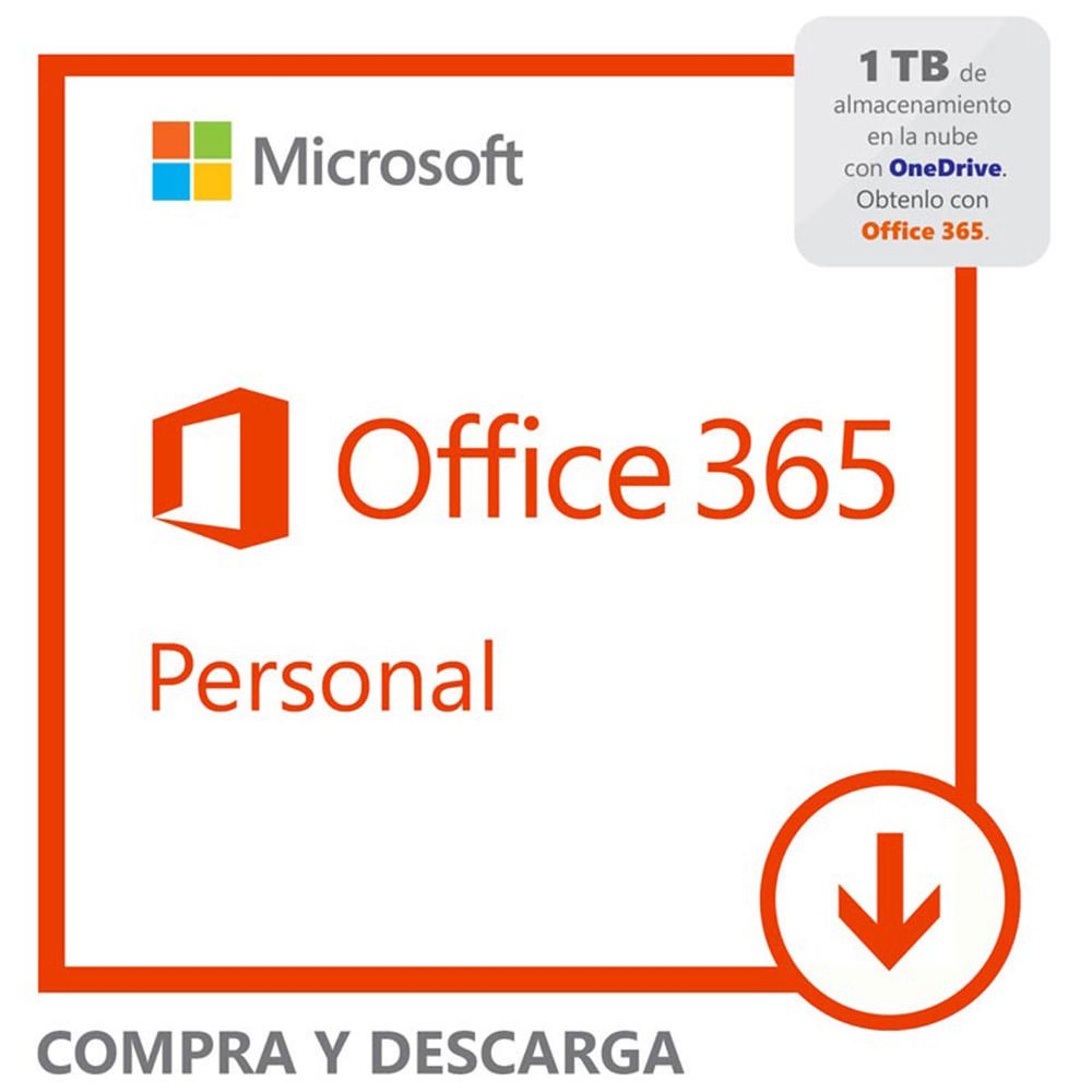 Microsoft Office 365 Personal Descargable Elektra.com.mx - elektra