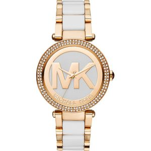 89705b3bd965 Moda y accesorios - Relojes - Mujer MICHAEL KORS Blanco-Dorado ...