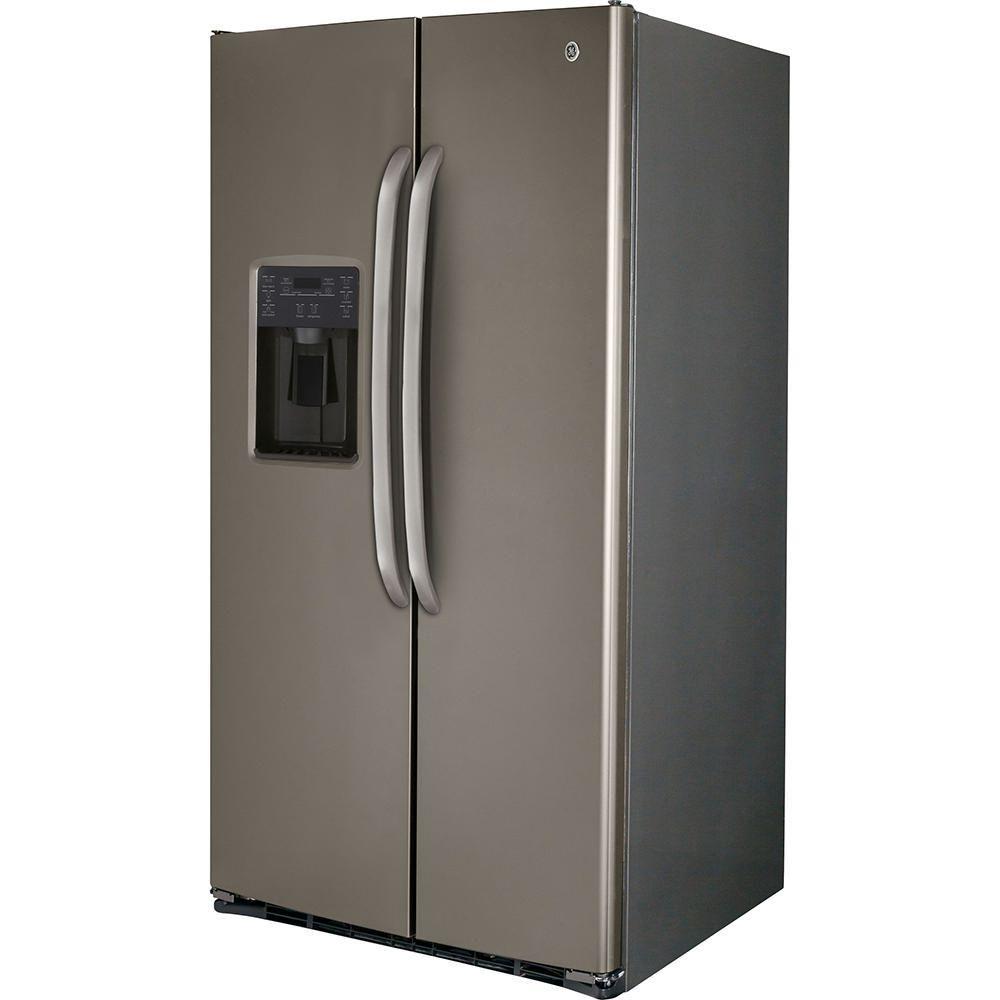 Refrigerador General Electric 26 Pies Slate | Elektra online - elektra