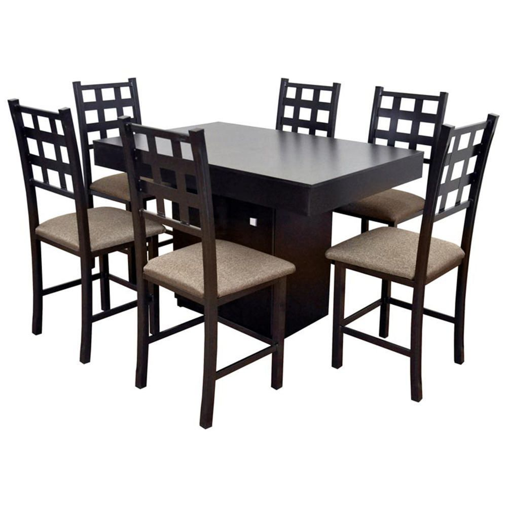 Design comedor 4 sillas color chocolate galer a de for Comedor pequeno 4 sillas
