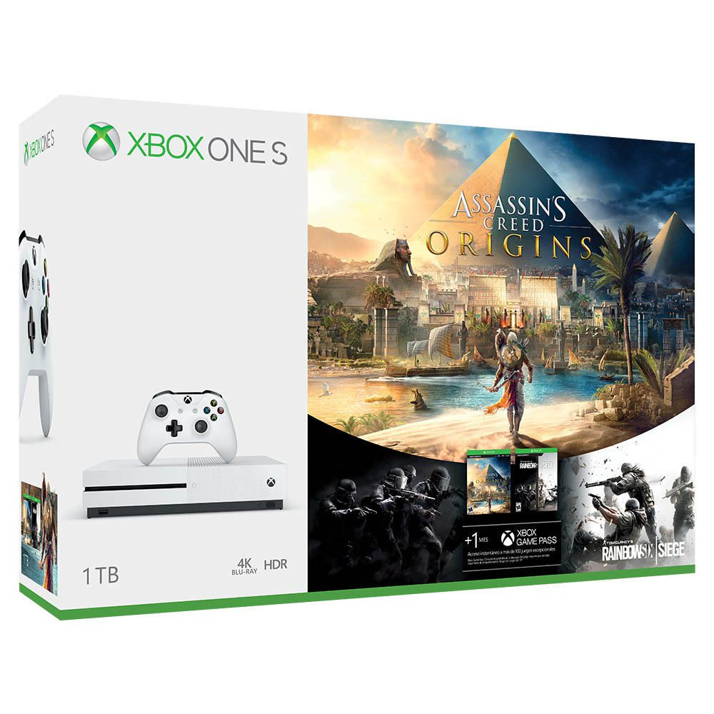 Xbox One S 1tb Assassin S Creed Origins Y Rainbow Six Siege  # Muebles Para El Xbox