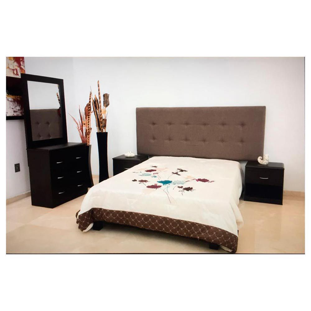 Rec mara king size mil n 5 pzs chocolate elektra online for Costo de recamaras en coppel