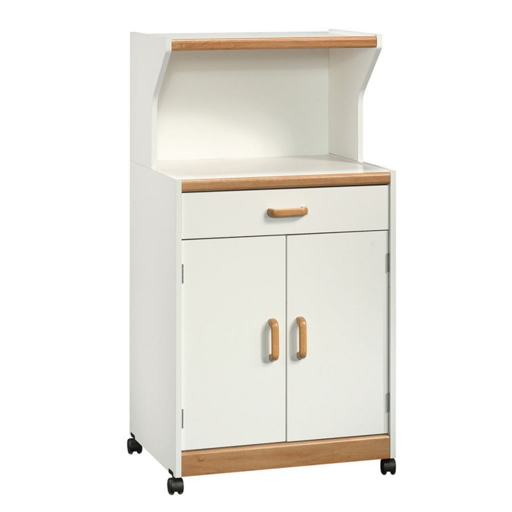 Mueble para microondas sauder 2 puertas blanco elektra for Muebles para microondas ikea