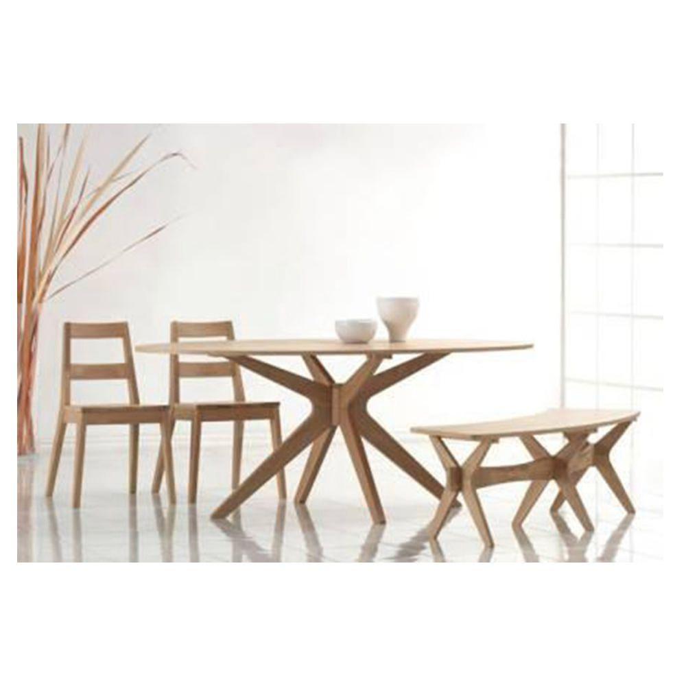 Comedor sylku 2 sillas y 1 banca madera elektra online elektra - Bancas de madera para comedor ...