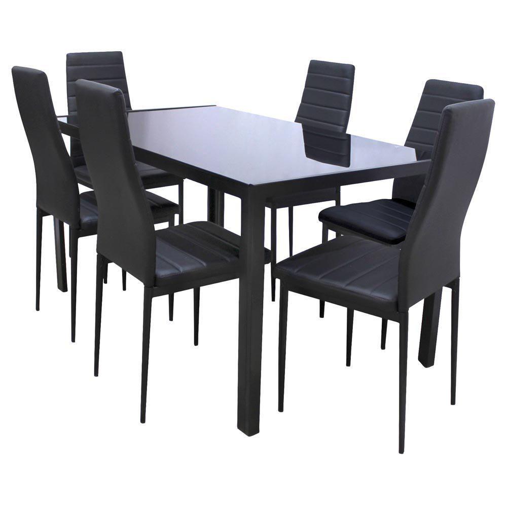 Antecomedor kenia 6 sillas negro elektra online elektra for Comedores queretaro