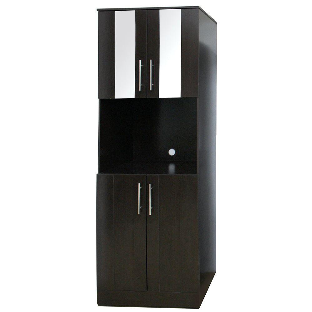 Mueble para microondas marruecos chocolate elektra for Muebles de cocina para microondas