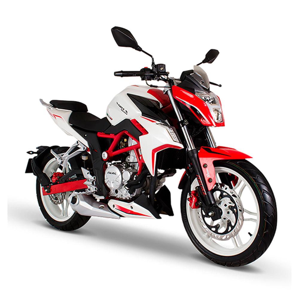 Motocicleta deportiva italika vort x rojo con blanco for Ecksofa 200 x 150