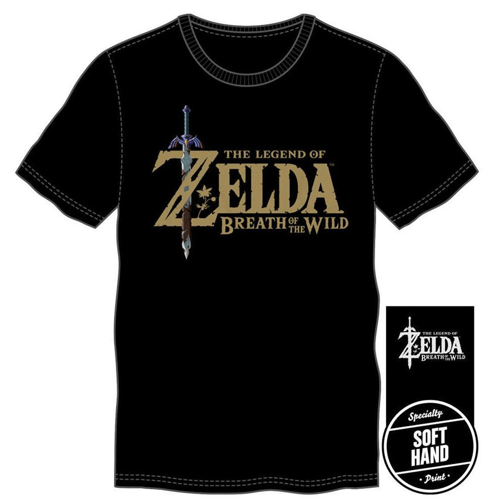 Playera Negra The Legend of Zelda Breath of the Wild con Logo Grande ... 67411bc2f27