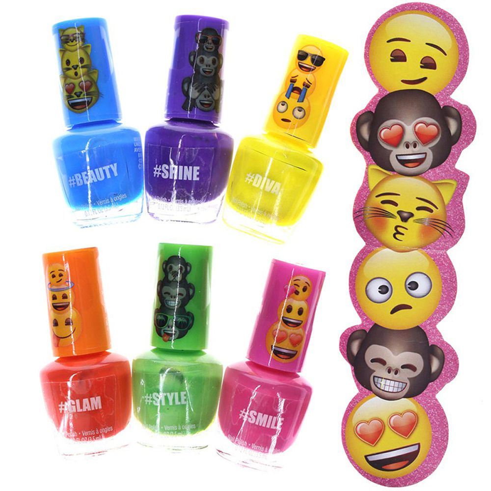 Set Esmalte para Uñas con Lima Emoji   Elektra Online - elektra