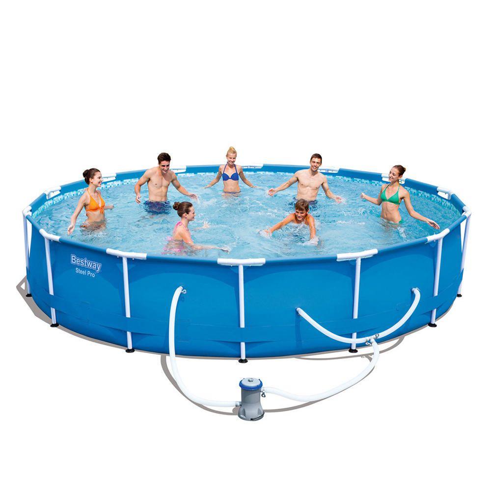 Alberca r gida bestway steel pro circular azul elektra for Albercas bestway precios