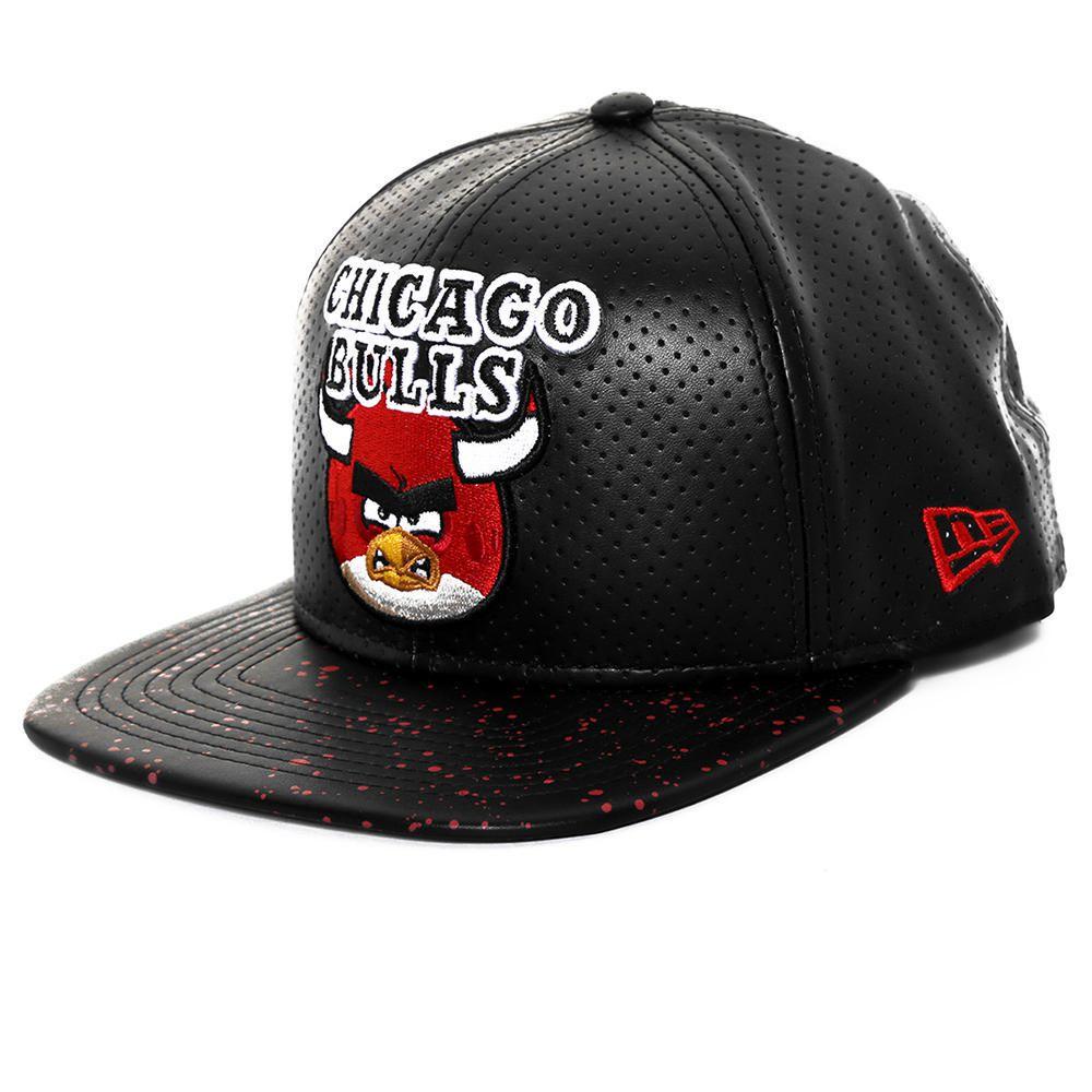 525440d4334d9 Gorra New Era 950 NBA Chicago Bulls Angry Birds Rojo con Negro ...
