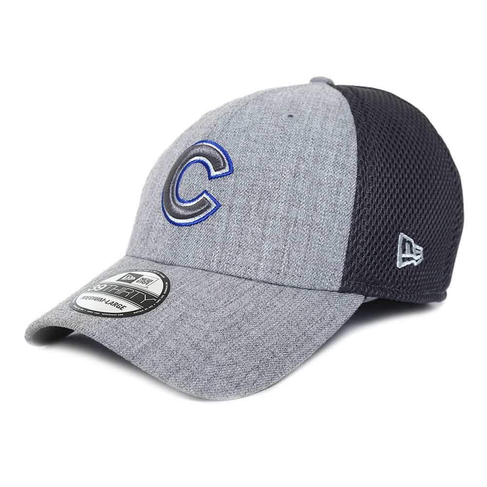 Gorra New Era 3930 MLB Chicago Cubs Azul con Gris Chica  19a3a2194d5