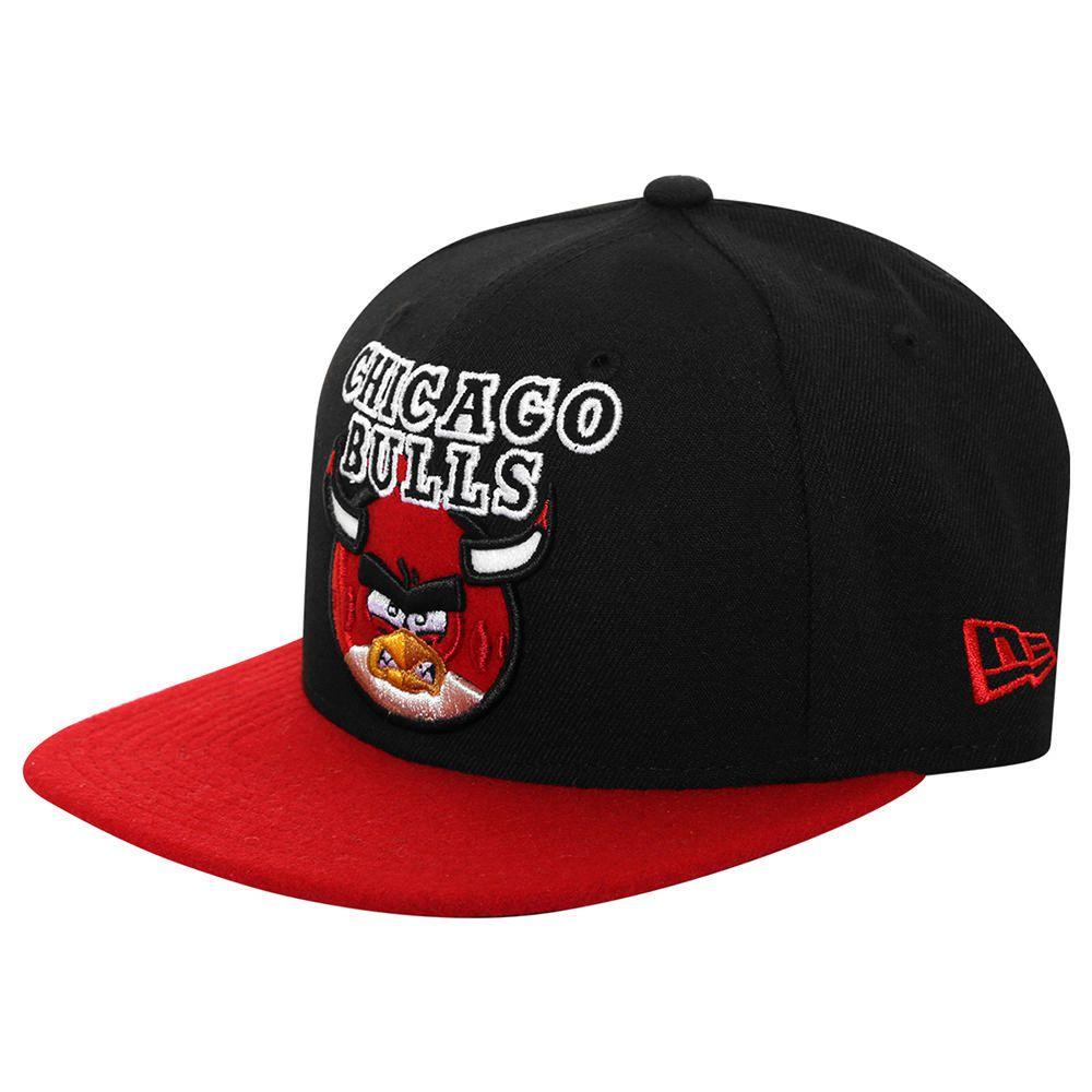 448bc5a83ec7b Gorra New Era 950 NBA Chicago Bulls Angry Birds Negro con Rojo ...