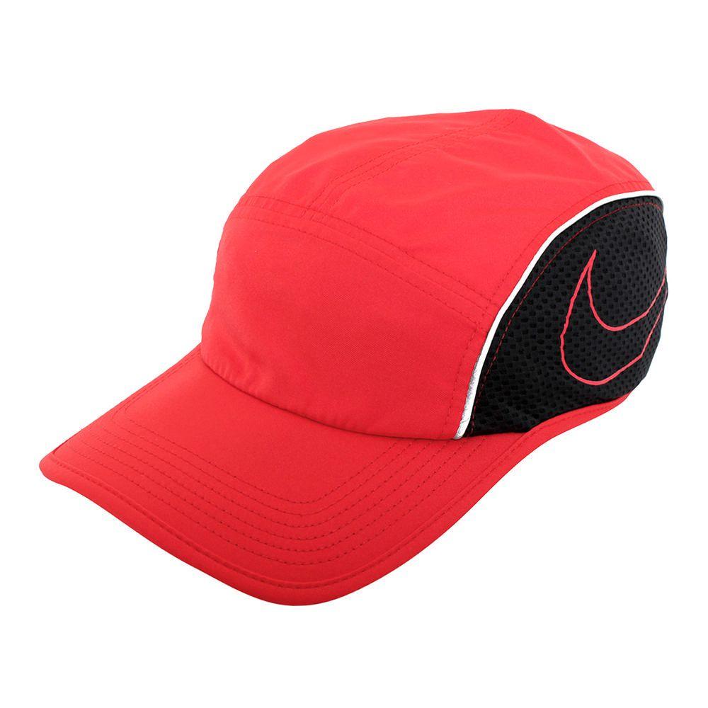 Gorra Nike Aerobill Run Rojo con Negro  80ddf175713