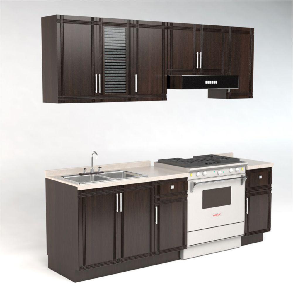 Cocina modular turqu a chocolate elektra online elektra for Los mejores muebles de cocina
