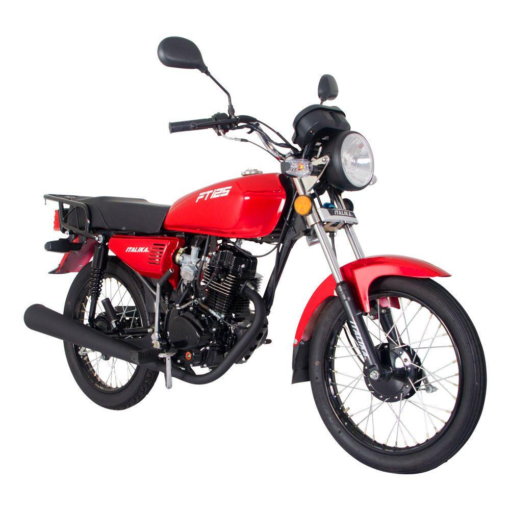 Motocicleta De Trabajo Italika Ft125 Rojo Elektra Online