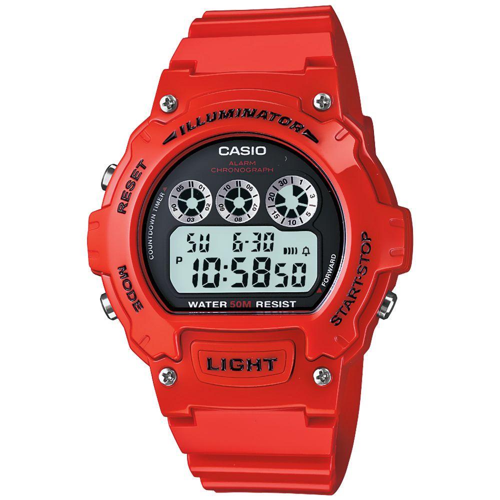 a9e65b659489 Reloj Digital para Caballero Casio W-214HC-4AVCF