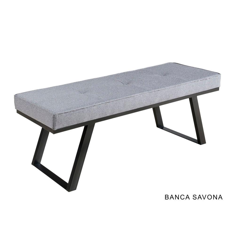 Banca para Comedor Savona Gris - bancoazteca