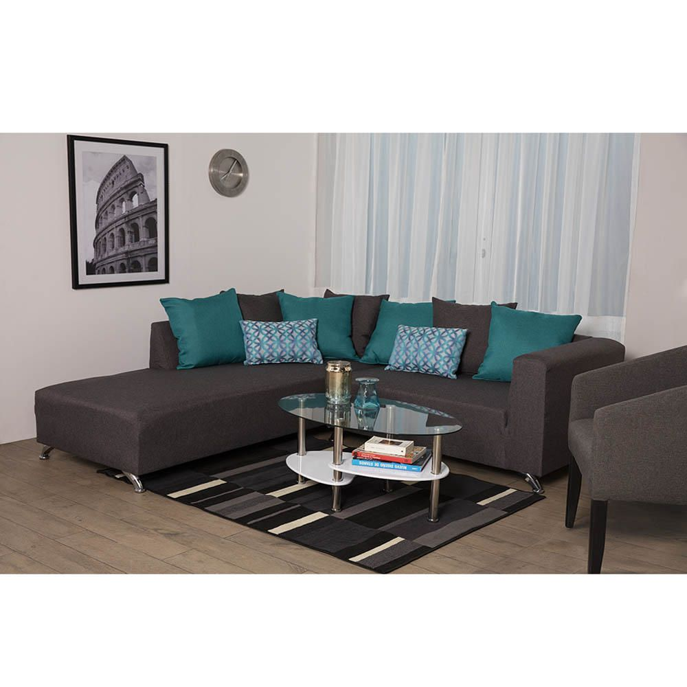 Sala esquinera austria gris elektra online elektra for Muebles de sala color gris