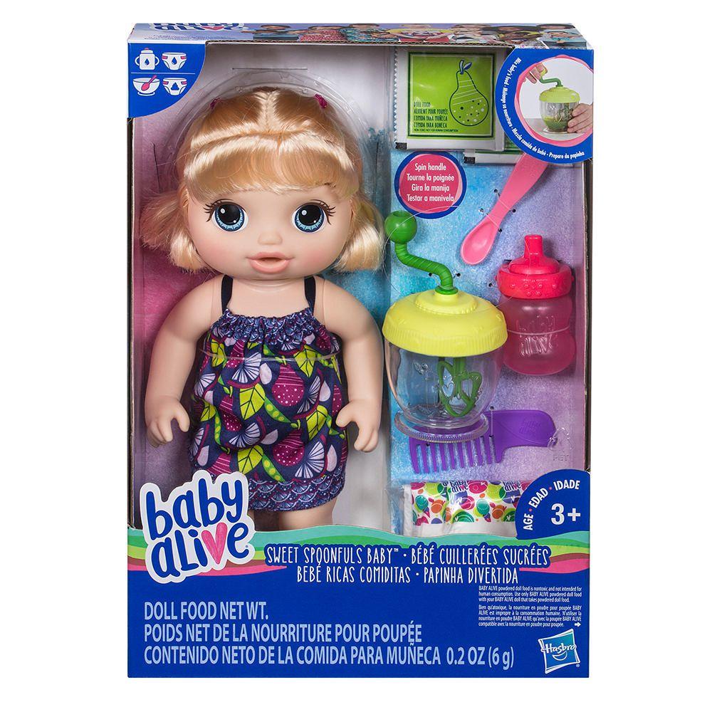 Hasbro Rubia Baby Ricas Alive ComiditasMuñeca OPuTkwXZi