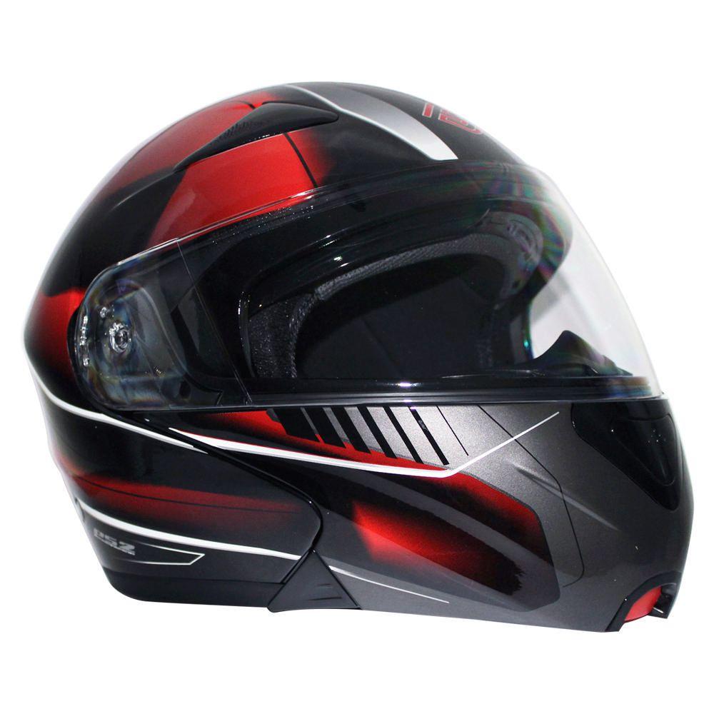 be3dd73514645 Casco Abatible Faseed PS2 Negro con Rojo Grande